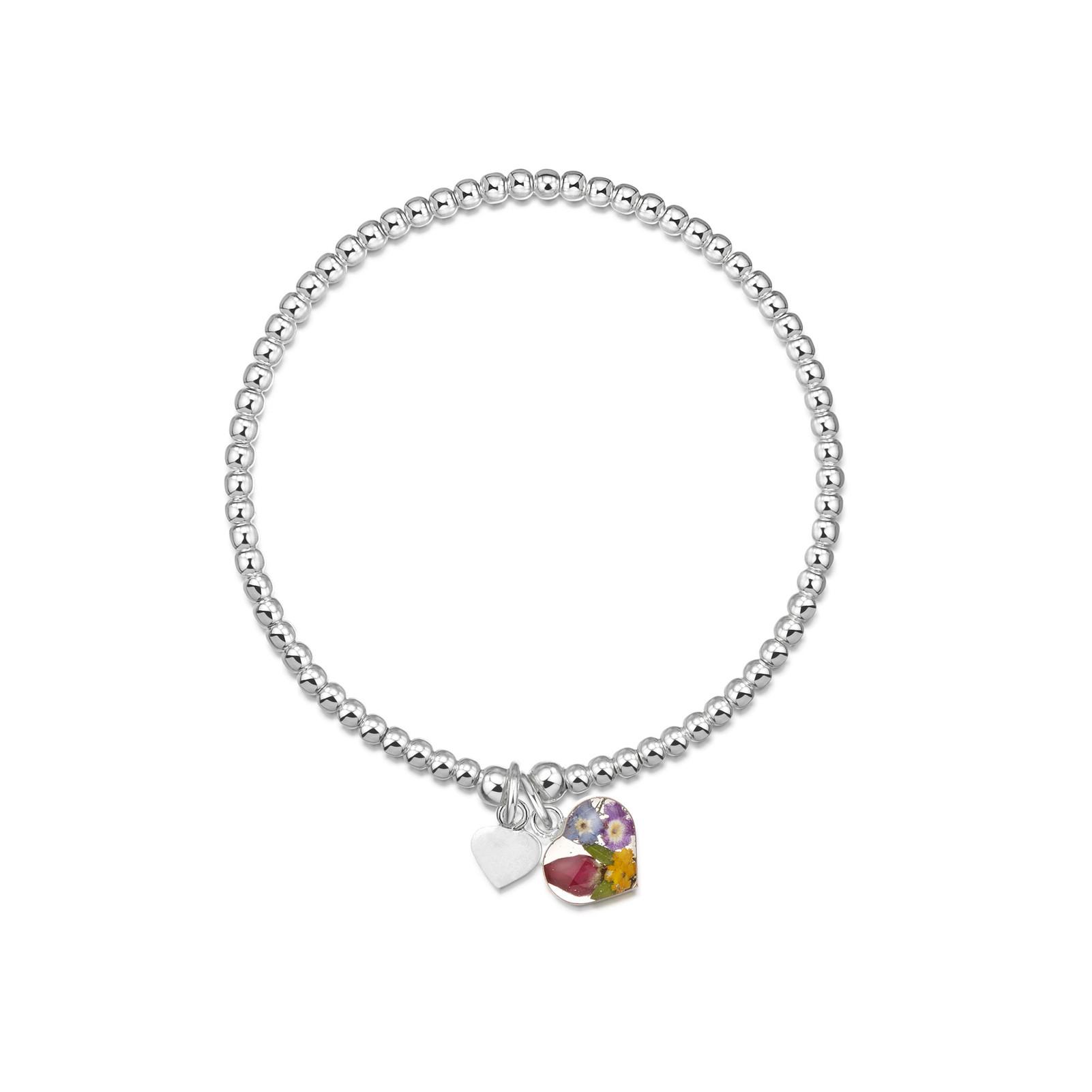 Strieborné šperky z reálnych kvietkov - Kolekcia MIX KVETOV farebný b89e93f2da9
