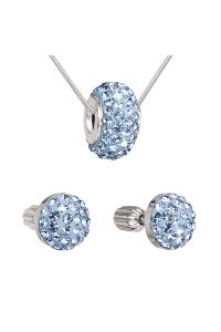 Obrázok pre Evolution Group Sada šperkov s krištáľmi náušnice a prívesok  modré okrúhle 39200.3 78d1b05808f