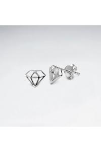 Strieborné náušnice napichovacie Diamanty af234f34909