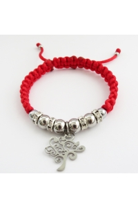 Náramok pletený červený nerez Strom 2eb78360c33