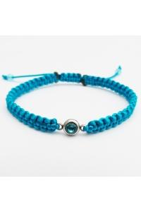 Náramok pletený modrý krištáľ tyrkysovo-modrý 5e5ce7e8722