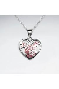 c97c4e656 Strieborný prívesok Srdce perleťové ružové