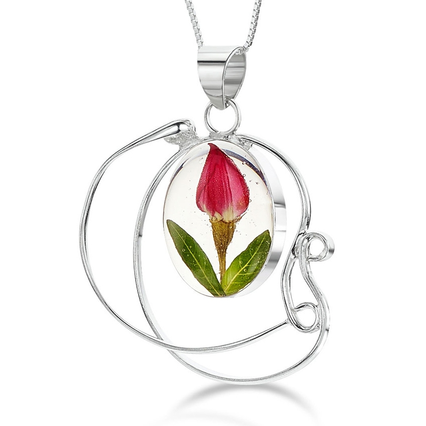 5d69590b6 Obrázok pre Strieborný prívesok Kvety Ruža - Špirála