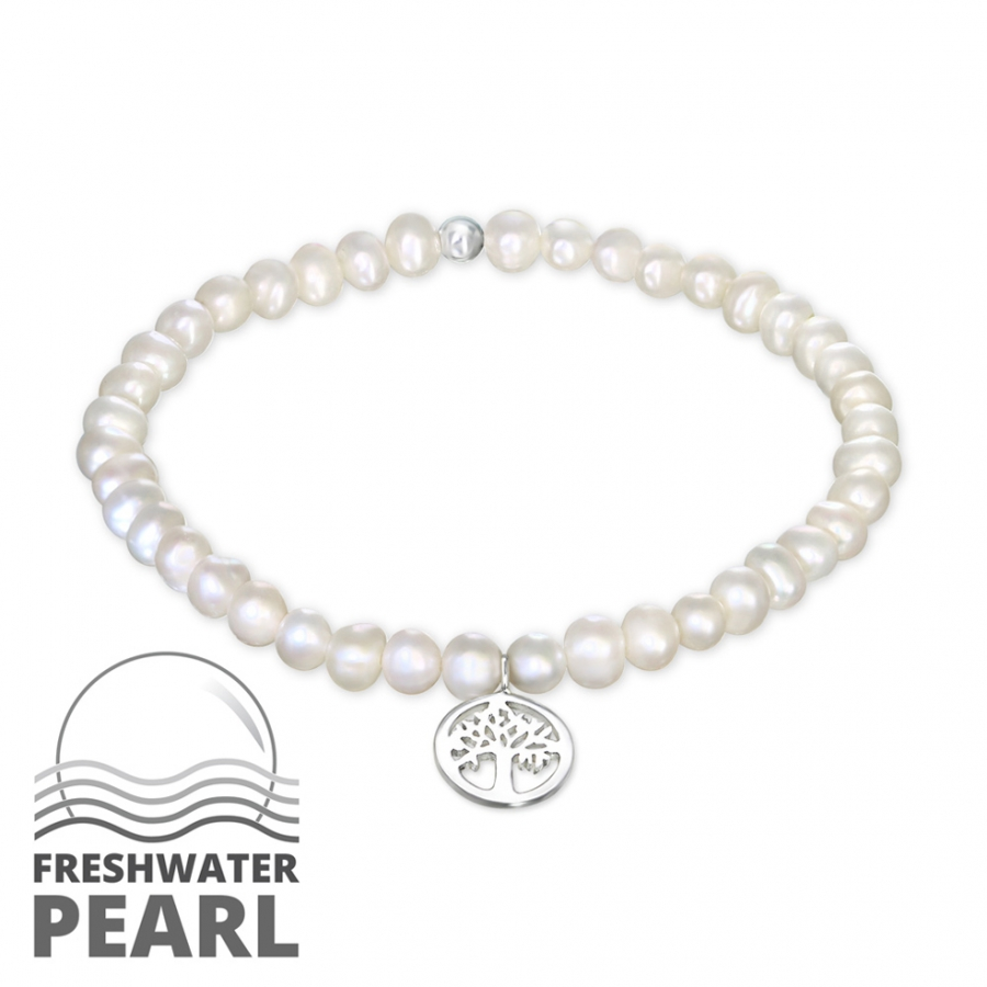 28351dbe2 Obrázok pre Strieborný náramok Riečne perly - Strom života